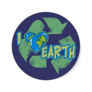 Love Earth Recycle Sticker