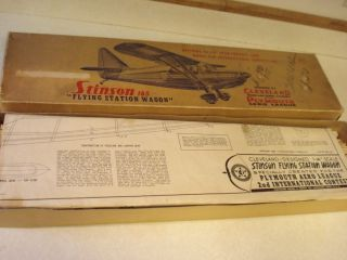 Cleveland Stinson 165 Flying Station Wagon Flying Model Airplane Kit