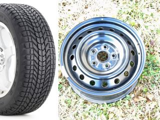 TC Toyota Corolla Matrix Prius Factory Steel Wheels Snow Tires