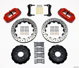 Wilwood Disc Brake Kit Front 88 96 Corvette C4 13 Drilled Rotors Red