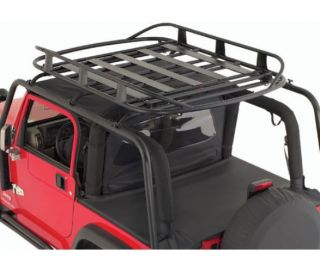 Smittybilt 17185 Jeep Wrangler Rugged Rack Roof Basket 50inx70in 250