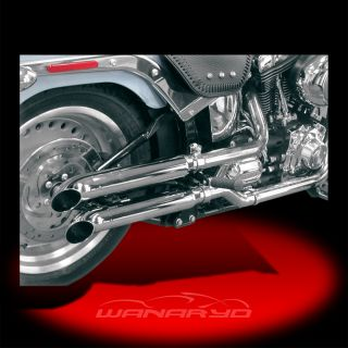 Cycle Shack Slip on Mufflers Turn Out for 2007 2013 Harley Softail