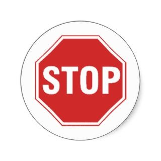 Stop Sign Design Unique cool design Sticker