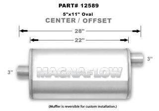 Magnaflow 12589 Muffler 3 Inlet 3 Outlet Stainless Steel Natural