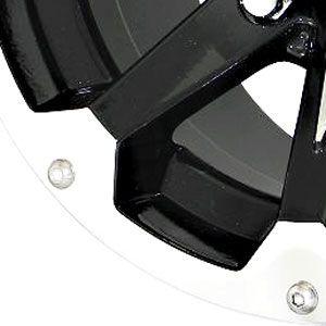 New 12X7 4 110 Six Shooter Gloss Black Machined Wheels/Rims