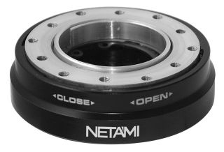 Netami Steering Wheel Thin Version Quick Release Kit Black USA