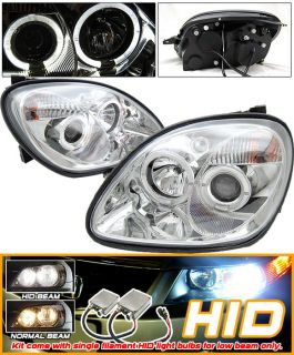 Xenon Fit Benz SLK230 SLK320 R170 Halo Projector Headlights