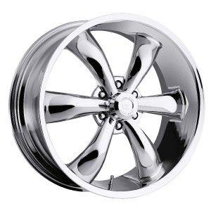 22 inch Vision 142 Legend 6 Chrome Wheels Rim 6x135 30