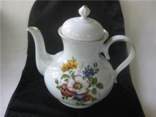Superb Bareuther Waldsassen Bavaria Germany Floral Roses 6 cup Teapot