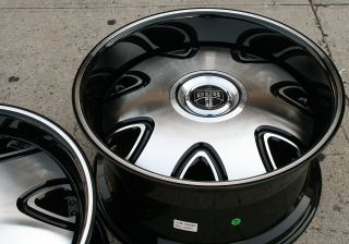Dub Bandito 20 Black Rims Wheels Nissan Maxima Staggered 20 x 8 5 10