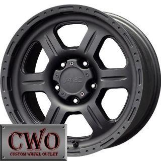 17 Black V Tec Off Road Wheels Rims 5x139 7 5 Lug Dodge RAM Durango