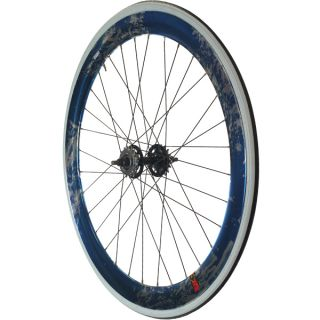 Fixie Single Speed Road Bike Track Wheel Wheelset Deep V Tyres Blue