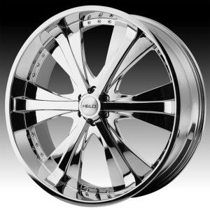 24 inch Helo chrome wheels rims 6x5.5 6x139.7 +30 / HUMMER H3 ESCALADE