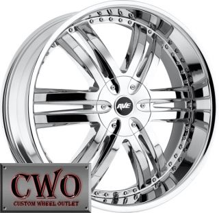 22 Chrome Avenue A607 Wheels Rims 6x139 7 6 Lug Yukon Tahoe Titam