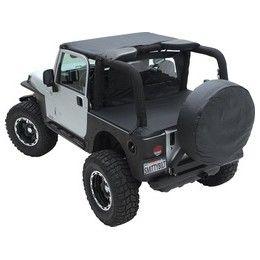 Smittybilt 761435 07 12 Jeep Wrangler 4DR Tonneau Cover Soft Top Black