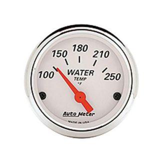 New Auto Meter Artic White Series Electric Water Temperature Gauge 2 1