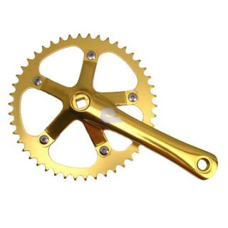 Pake 1 8 inch Track Crank Set 165mm 46T Single Speed Fixed Gear
