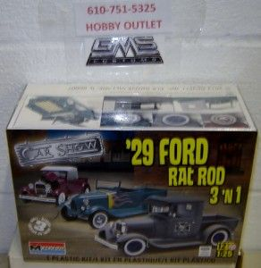 Monogram 85 4932 1929 Ford Rat Rod 3in1 Model Kit gms Customs Hobby