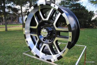 179 ion 17x8 Machined Black 7 Lug 7 on 150 mm Ford F150 250 Wheels