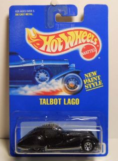 Hot Wheels Blue Card 250 Talbot Lago 7sp Wheel Variation