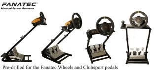 GT Omega Steering Wheel Stand Fanatec GT2 GT3 CSR w Clubsport Pedals