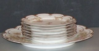 Antique Porcelain Haviland Limoges Dessert Set Plate