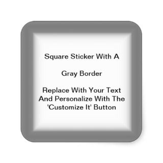 Square Stickers With A Gray Border In Sheets