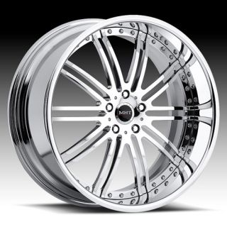 22 MHT Vendetta Chrome Rims Wheels BMW 645 650 745 750