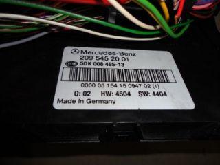 2001 06 Mercedes Benz W203 W209 C280 C230 CLK320 Sam Module Relay Fuse