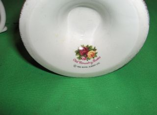 Vntg 1962 Royal Albert Bone China Old Country Roses Footed Fluted