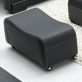 Contemporary Black Leather Sectional Sofa Couch Modern Sofa Chaise