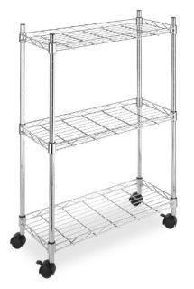 Whitmor 6056 53 Supreme Laundry Cart Chrome Easy Assembly New