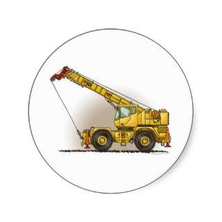 Crane Construction Equipment Sticker