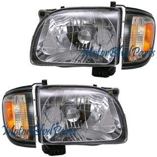 01 04 Tacoma Headlights Headlamp Corner Right Left Gray