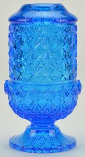 Blue Art Glass Fairy Lamp Tealight Holder Light 6 Decorative Home