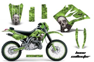 MOTOCROSS BACKGROUND NUMBER PLATE KIT KAWASAKI KDX 200 220 95 08 BCG