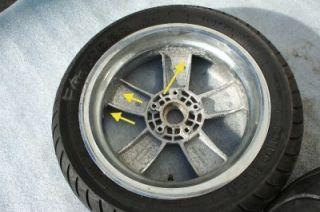 05 06 07 08 Vespa GTV250 GT250 GTS250 200L Wheel Rim Chrome Peeling