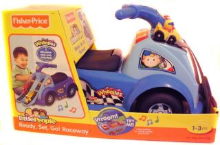Fisher Price Little People Ready Set Go Raceway Ride on Toy with Sound