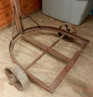 Antique Barrel Mover Hand Truck Landscaper Large Planters Cauldrons