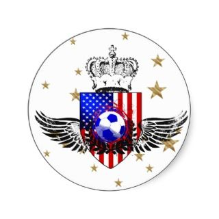 Sheet of 20 US soccer stickers for futbol fans