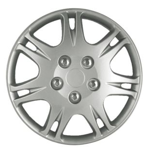 Mitsubishi galant Hub Cap 99 03 4 Piece Set 15 inch Silver Skin Wheel
