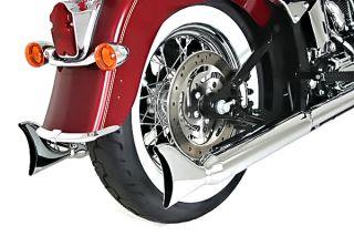 Samson True Dual Fish Tail Mufflers S211 Harley Softail