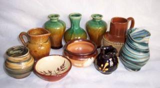 10 Antique & Vintage Pottery Minatures Doulton Lambeth Alton Towers