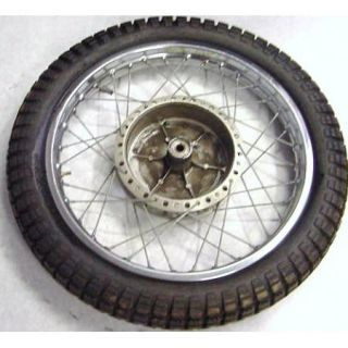 72 Suzuki T500 T 500 Rear Wheel Tire Rim Spoke Tread