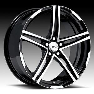 18 x7 5 MSR 048 0482 s F Black Wheels Rims 4 5 Lug