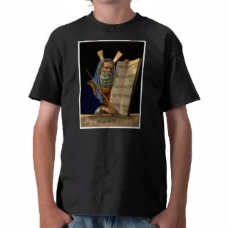 Moses & The Ten Commandments ~ Vintage Art Tee Shirt