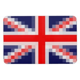 United Kingdom Pixels Flag Rectangular Magnet