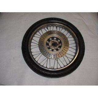 78 Kawasaki KZ650 KZ 650 Front Tire Spoked Wheel Rim Hub