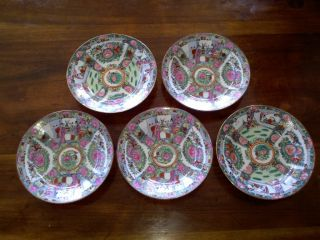 180 Piece Estate Lot Antique Rose Medallion Dishware China Cups Plates