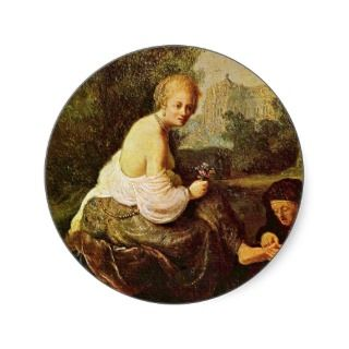 Bathsheba At Her Toilet Seen By King David. [1] Stickers